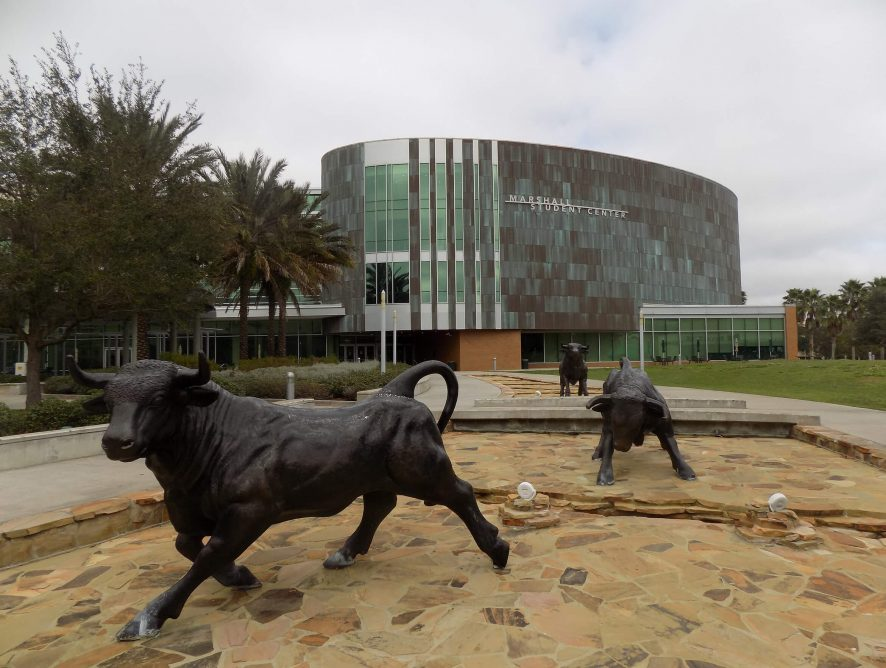 USF MSCS Plaza Bull Monuments