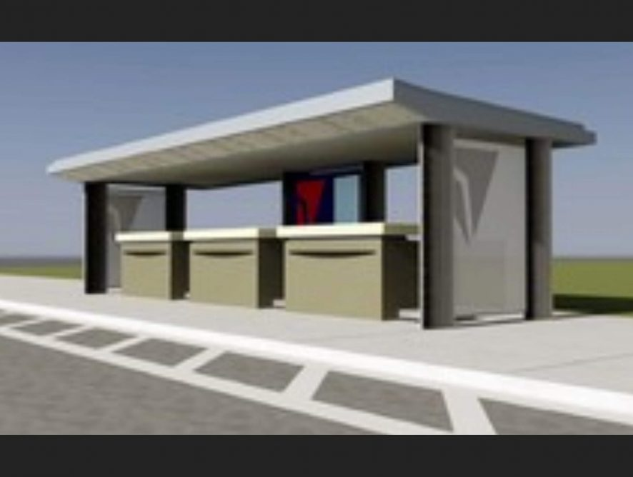 Delta Airlines Check-In Canopy Structure